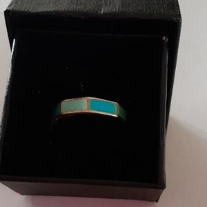 Jewelry - Sterling Inlaid Turquoise Ring